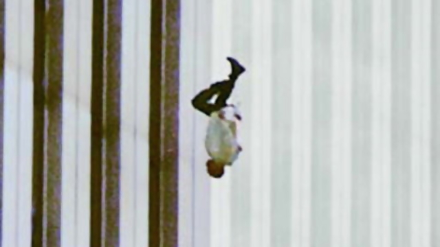 Image result for photo falling man 9/11